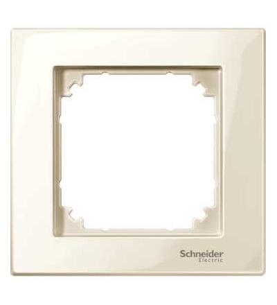 Schneider Electric MTN515144 Merten M-Plan, krycí rámeček, 1-násobný, white cream