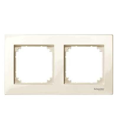 Schneider Electric MTN515244 Merten M-Plan, krycí rámeček, 2-násobný, white cream