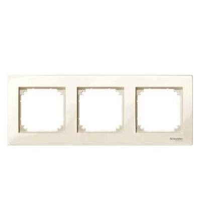 Schneider Electric MTN515344 Merten M-Plan, krycí rámeček, 3-násobný, white cream