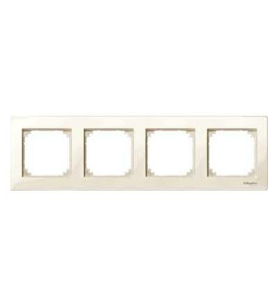Schneider Electric MTN515444 Merten M-Plan, krycí rámeček, 4-násobný, white cream