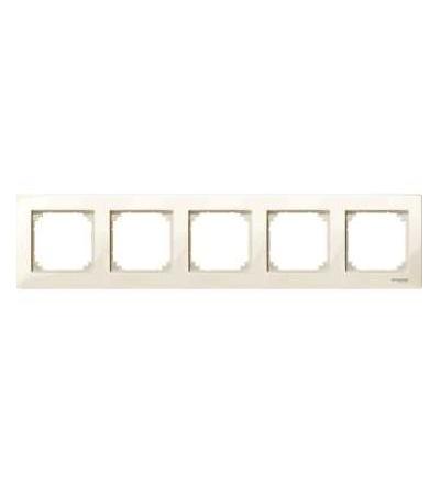 Schneider Electric MTN515544 Merten M-Plan, krycí rámeček, 5-násobný, white cream