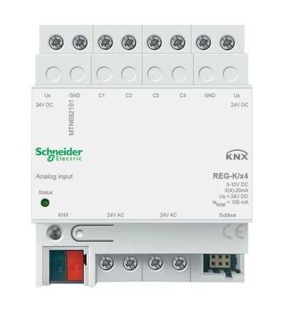 MTN682191 KNX analogový vstup REG-K/4-násobný, Schneider Electric