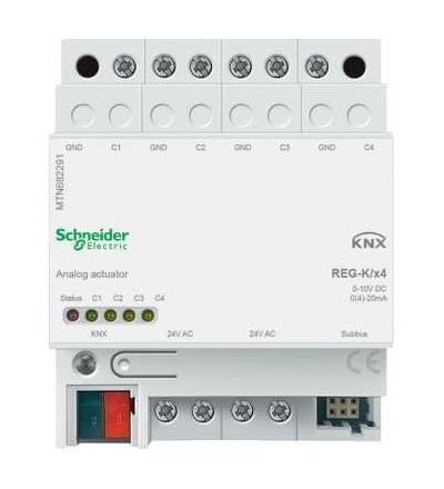 MTN682291 KNX analogový akční člen REG-K/4-násobný, Schneider Electric