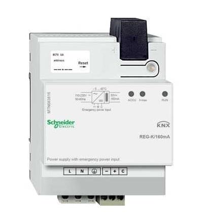 Schneider Electric MTN683816 KNX napájecí zdroj REG-K/160mA se vstupem pro záložní napájení