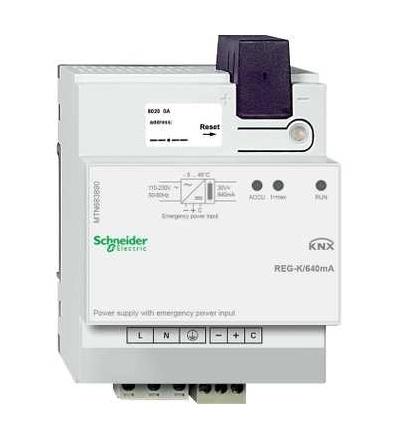 MTN683890 KNX napájecí zdroj REG-K/640mA se vstupem pro záložní napájení, Schneider Electric