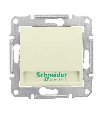 SDN1600347 Ovládač tlačítkový s orientační kontrolkou s držákem štítku, ř. 1/0So, beige, Schneider Electric