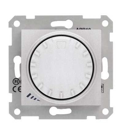 SDN2200960 Stmívač otočný, tlačítkové spínání, RL 40-1000 W/VA, ř. 1, alu, Schneider Electric