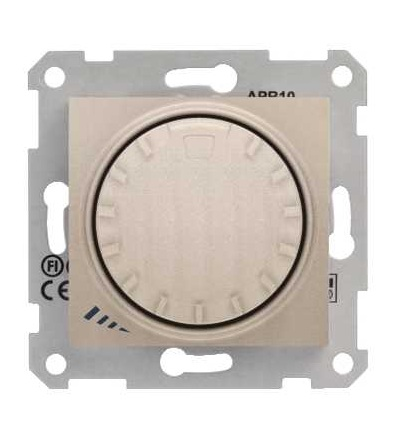 SDN2200968 Stmívač otočný, tlačítkové spínání, RL 40-1000 W/VA, ř. 1, titan, Schneider Electric