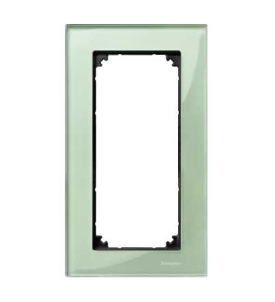 Schneider Electric MTN404804 Merten M-Elegance Glass, krycí rámeček, 2nás. bez stř. můstku., emerald green