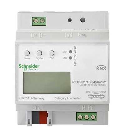 MTN6725-0001 KNX-DALI brána REG-K/1/16(64)/64/IP1, Schneider Electric