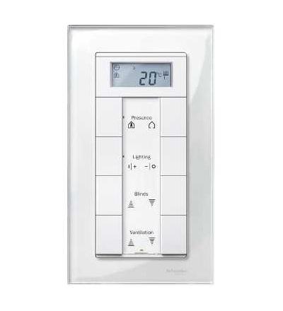 Schneider Electric MTN404819 Merten M-Elegance Glass-krycí rámeček-2-nás. bez stř. můstku.-brilliant white