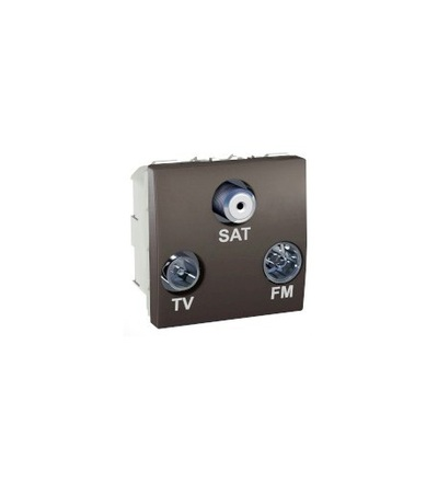 Schneider Electric Unica, TV/FM/SAT individual socket, graphite MGU3.450.12