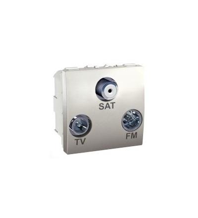 Schneider Electric Unica, TV/FM/SAT individual socket, aluminium MGU3.450.30