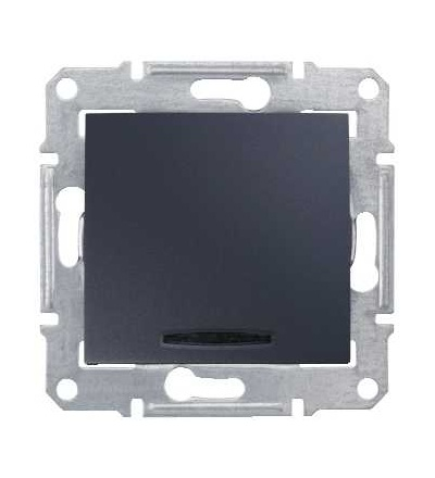 SDN1600170 Ovládač tlačítkový s orientační kontrolkou, ř. 1/0So, graphite, Schneider Electric