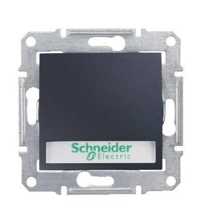 SDN1700470 Ovládač tlačítkový 12V s orientační kontrolkou s držákem štítku, ř. 1/0So, graphite, Schneider Electric