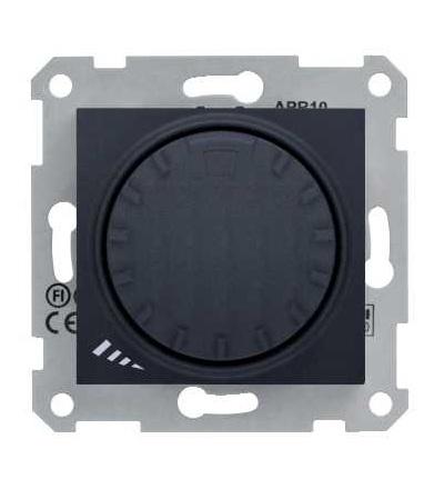 SDN2200970 Stmívač otočný, tlačítkové spínání, RL 40-1000 W/VA, ř. 1, graphite, Schneider Electric