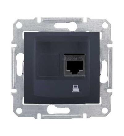 SDN4900170 Zásuvka datová 1xRJ45 kat.6 STP, graphite, Schneider Electric