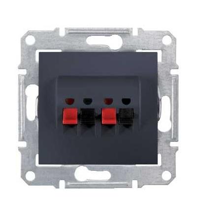 SDN5400170 Zásuvka reproduktorová dvojitá, graphite, Schneider Electric