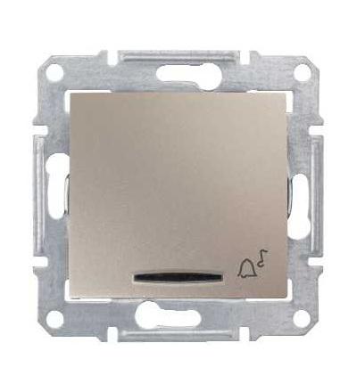 SDN1700168 Sedna-ovládač tlačítkový-10AX 12V~ orient.kont.-symbol zvonek-bez rámečku- titan, Schneider Electric