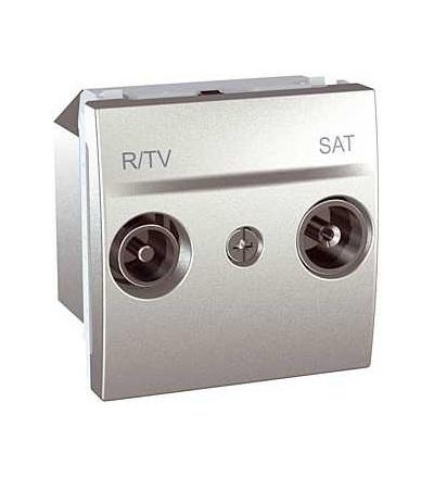 Schneider Electric MGU3.454.30 Unica Top/Class, zásuvka R-TV/SAT, koncová, alu.