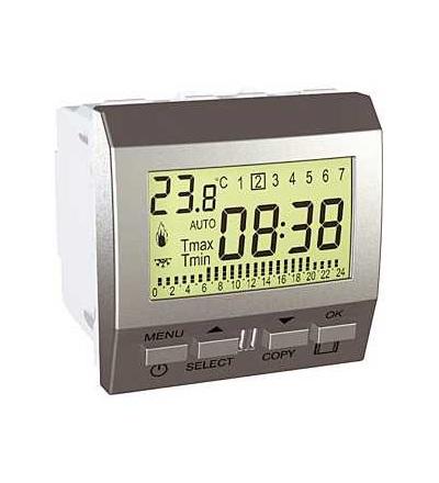 Schneider Electric MGU3.505.30 Unica Top/Class-termostat týdenní programovatelný-230V AC-2m-alu