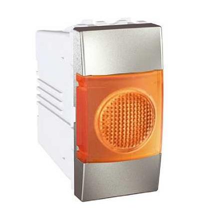Schneider Electric MGU3.775.30A Unica Top/Class, indikační světlo, 220V AC, 1mod., orange, aluminium