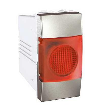 Schneider Electric MGU3.775.30R Unica Top/Class, indikační světlo, 220V AC, 1mod., red, aluminium
