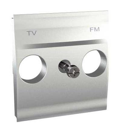 Schneider Electric MGU9.440.30 Unica Top/Class-centrál.deska pro antenní zásuvku TV/FM-2mod.-aluminium