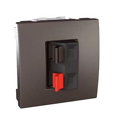 Schneider Electric MGU3.486.12 Unica Top/Class, svorky pro připojení reproduktorů, 2mod., grafit