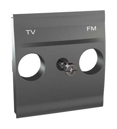 Schneider Electric MGU9.440.12 Unica Top/Class, centr.deska pro antenní zásuvku TV/FM, 2mod., grafit