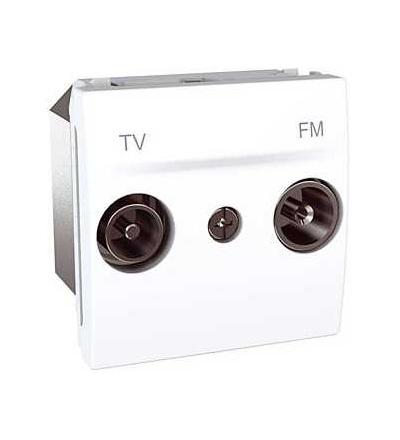 Schneider Electric Unica, zásuvka TV/FM, koncová, polar MGU3.451.18