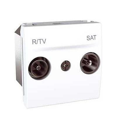 Schneider Electric Unica, zásuvka R-TV/SAT, koncová, polar MGU3.454.18