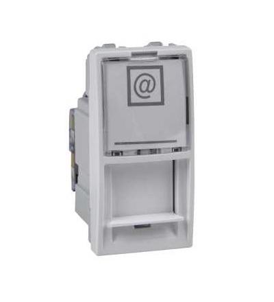 Schneider Electric MGU3.414.18 Unica, 1 RJ45 socket (S-One), 1m, Cat.6, UTP, white