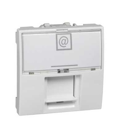 Schneider Electric MGU3.447.18 Unica, 1 RJ45 socket (S-One), 2m, Cat.6A, S/FTP, white