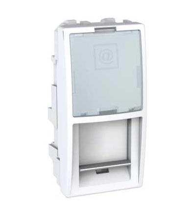 MGU9.420.18 Unica, kryt datové zásuvky LexCom, 1modul, polar, Schneider Electric