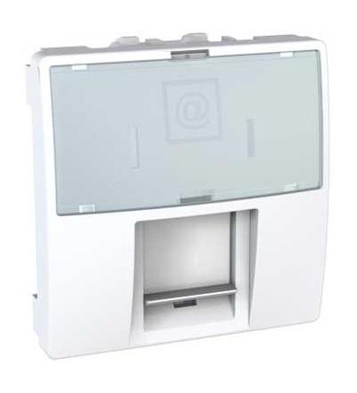 Schneider Electric MGU9.421.18 Kryt datové zásuvky LexCom, 2 moduly, polar