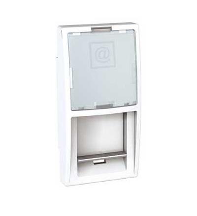 MGU9.461.18 Unica-kryt datové zásuvky pro kon.AMP,KRONE-LUCENT a ATT (Avaya)-1modul-polar, Schneider Electric