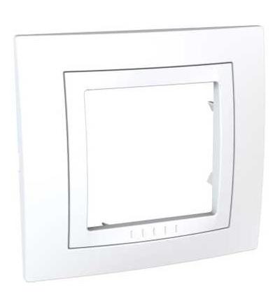 MGU2.002.18 Unica Basic, krycí rámeček, jednonásobný, polar/polar, Schneider Electric