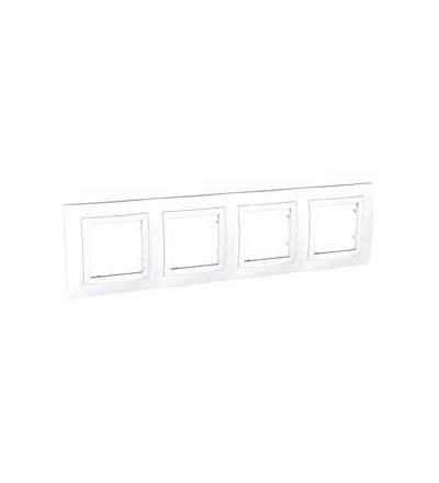 MGU2.008.18 Unica Basic, krycí rámeček, čtyřnásobný, H71, polar/polar, Schneider Electric