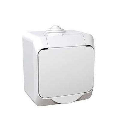 Schneider WDE000540 zásuvka 230V 16A 2P PE bílá