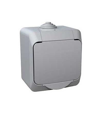 Schneider Electric WDE000610 Cedar Plus, jednopólový spínač č.1, 16AX, šedá