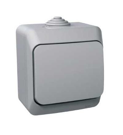 Schneider Electric WDE000640 Cedar Plus, jednoduchá zásuvka 230V 16A 2p+PE, krytky, šedá