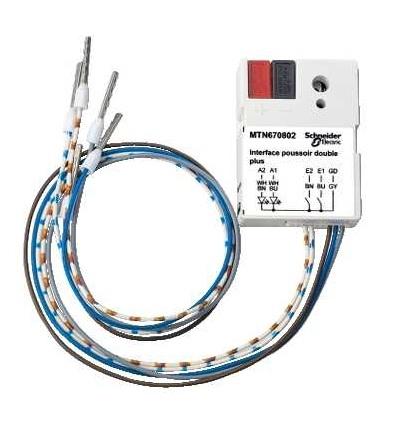 Schneider Electric MTN670802 KNX tlačítkové rozhraní 2-násobné plus, Polar