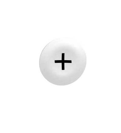 Schneider Electric ZBA7138 Bílý hmatník označený+pro obd. vícehlavové tlač. ? 22