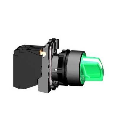 Schneider Electric XB5AK133M5 Zelená kompletní prosvětlený otočný ovládač ? 22 3-polohy pevné 1Z+1V 230V