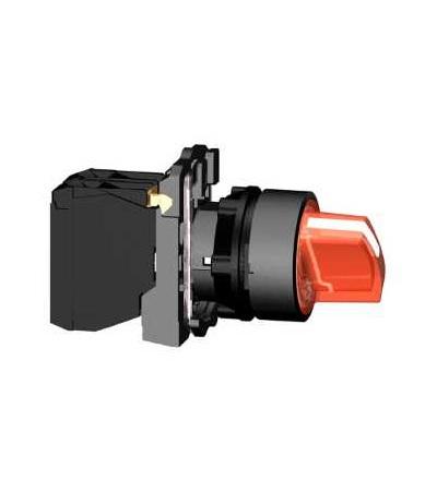 Schneider Electric XB5AK134B5 červená kompletní prosvětlený otočný ovládač ? 22 3-polohy pevné 1Z+1V 24V