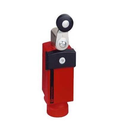 XCSP3918P20 Bezp. polohový spínač, plast, otočná páka, 2V+1Z, 1závitový otvor M20x1,5, Schneider Electric