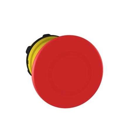 Schneider Electric ZB5AT84 červená O40 ovl.hlav.stisk.nouz.zastav.? 22 vypnuto a s aretací