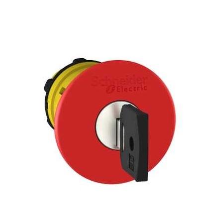 Schneider Electric ZB5AS944K červená O40 ovl.hlav.stisk.nouz.zastav.? 22 vypnuto a s aretací
