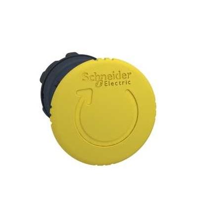 Schneider Electric ZB5AS55 žlutá O40 hlavice s hřibovým tlačítkem ? 22 s aretací